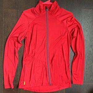 Lole Red Zip Up track Jacket - Size Medium